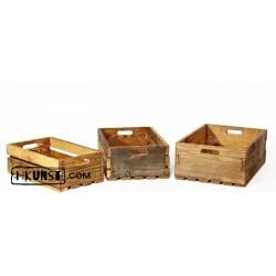 3er Set Kisten aus Altholz voll