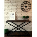 Konsole Tisch, dunkler Kiefer 120x40cm