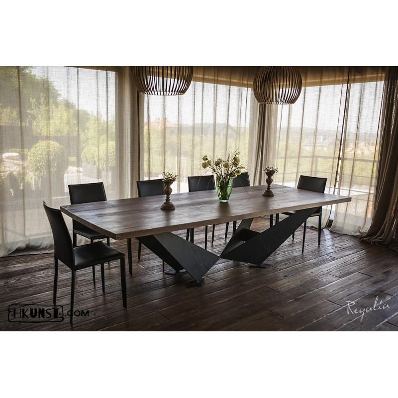 Massivholztisch aus alter eiche for Massivholztisch eiche