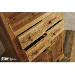 Massivholz Schrank aus Altholz