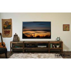 TV-Lowboard aus Altholz 3-teilig