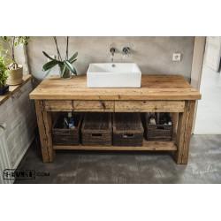 Waschbeckenunterschrank Altholz