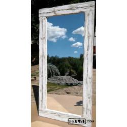 Wandspiegel mit Altholzrahmen handgefertigt