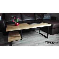 Eichenholz Couchtisch mit zwei Tischplatten