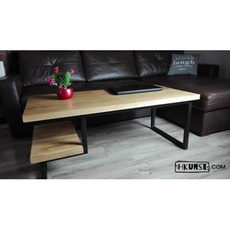 Couchtisch mit zwei Tischplatten, Eichenholz