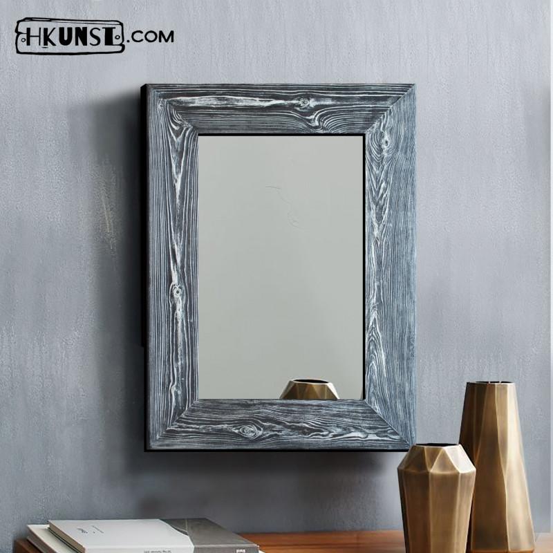 Wandspiegel mit holzrahmen 40x60cm hkunst - Wandspiegel mit holzrahmen ...