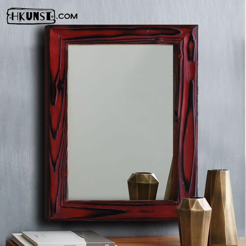 Wandspiegel mit holzrahmen 60x80cm hkunst - Wandspiegel mit holzrahmen ...