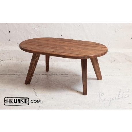 Altholz Couchtisch oval 115x73cm